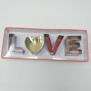 "Meri Meri ""LOVE"" Metal Cookie Cutter"